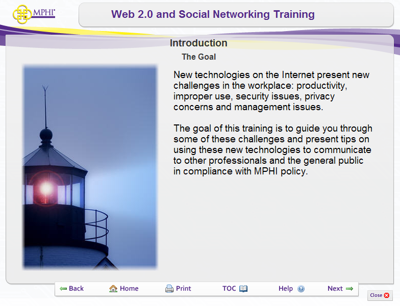 Web 2.0 and Social Networking WBT