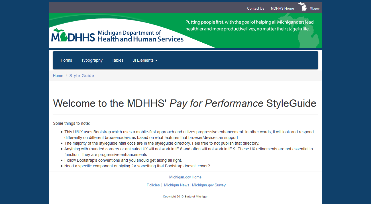 MDHHS Pay for Performance Web Application
